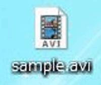 avi形式の拡張子のファイルの画像