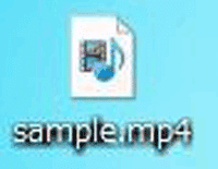 mp4の動画形式の拡張子ファイルの画像