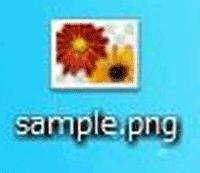 pngファイルの拡張子の画像