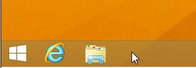 Win8.1で、タスクバーにマウスをのせた画像