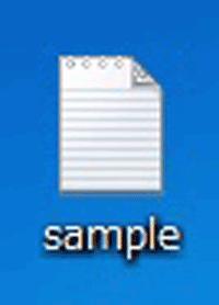 テキストファイルの拡張子が表示されていないファイルの画像