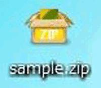 zip形式の拡張子のファイルの画像